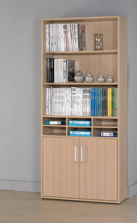 CM110016 2.7尺兩門開放式書櫃