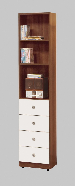 CM110020 1.4尺淺胡桃四抽書櫃