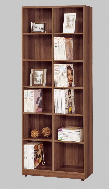CM110021 2.7尺淺胡桃開放式書櫃